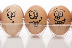 Egg characters Close up Stock Photography