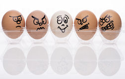 Egg characters Stock Photography