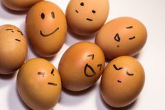 Egg characters Stock Photo