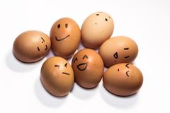 Egg characters Royalty Free Stock Photo