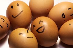 Egg characters Royalty Free Stock Image