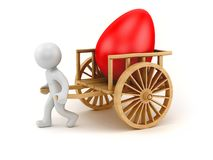 Egg chariot Stock Image