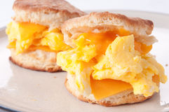 Egg, cheese and biscuit breakfast Stock Photo