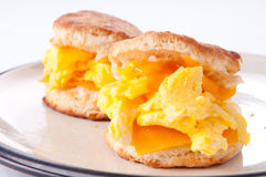 Egg, cheese, and biscuit breakfast Royalty Free Stock Photos