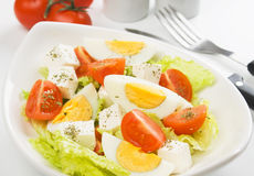 Egg and cheese salad Royalty Free Stock Photos