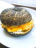 Egg cheese sandwich. Background unit isolate stock image