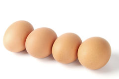 Egg. Chicken egg  on pure white background Stock Images