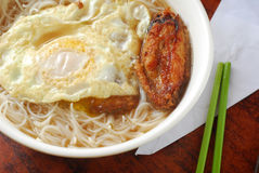 Egg chicken wing noodle Stock Images
