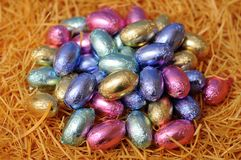 Egg chocolate candy Stock Images