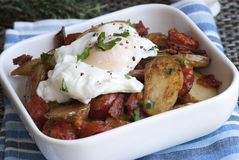 Egg, chorizo and potatoes Royalty Free Stock Photo