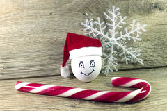 Egg in christmas hat Royalty Free Stock Photography