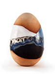 Egg clay ceramic Royalty Free Stock Images