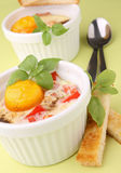 Egg cocotte Royalty Free Stock Images
