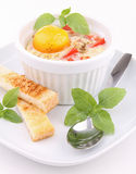 Egg cocotte Royalty Free Stock Photo