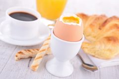 Egg and coffee cup Stock Image