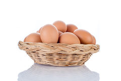 Egg collection isolated on white background Royalty Free Stock Images