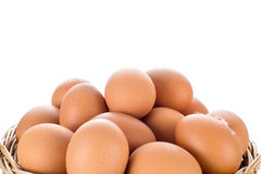 Egg collection isolated on white background Stock Photo