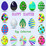 Egg collection 2016. A new collection of colored Easter eggs vector illustration