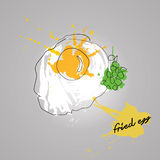 Egg with color splash Royalty Free Stock Image
