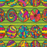 Egg colorful draw seamless pattern Royalty Free Stock Images