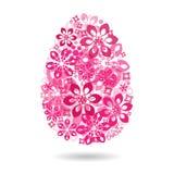 Egg com um teste padrão, como um símbolo da Páscoa Ilustração do vetor Fotografia de Stock Royalty Free