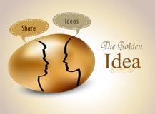 Egg con le siluette il fumetto, concetto di scambio di idea illustrazione di stock