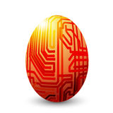 Egg connected. Stylized painted egg,  objects over white background Stock Images