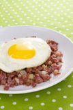 Egg on Corned Beef Hash Royalty Free Stock Photography