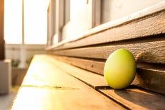 Egg in the corner Stock Photos