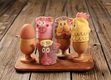 Egg cosies Royalty Free Stock Image