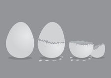 Egg and Cracked EggShell Vector Illustration Royalty Free Stock Photo