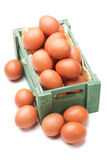 Egg crate on white background Royalty Free Stock Images