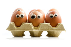 Egg creatures Stock Photos