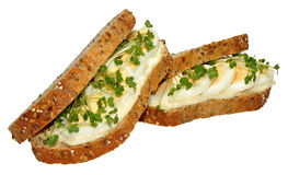 Egg And Cress Sandwich Stock Photos