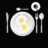 Egg and cup of coffee vector Royalty Free Stock Images