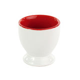 Egg cup isolated on white Royalty Free Stock Photos