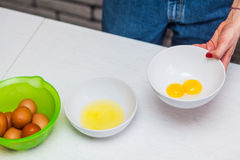 Egg in a cup Stock Photos