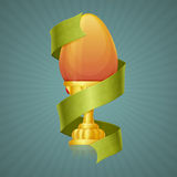 Egg Cup With Ribbon Stock Photo