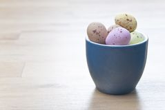 Egg Cup with Sweets Stock Images