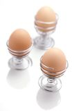 Egg Cups. On White Background Stock Photos