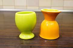 Egg cups Stock Photography