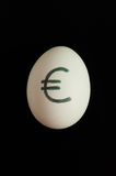 Egg with currency sign of euro on it Stock Images