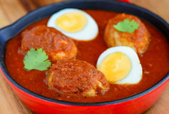 Egg curry. Indian meal -egg curry for main course served in lunch or dinner with roti or rice Stock Photos