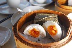 Egg Custard. Bun dim sum Stock Photography
