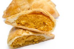 Egg custard pie close up Stock Photography