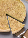 Egg Custard Tart With Nutmeg Stock Photo