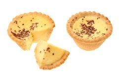 Egg custard tarta Stock Photos