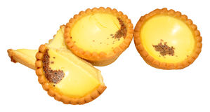 Egg Custard Tarts Stock Photos
