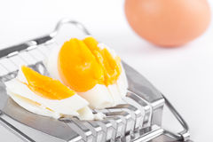 Egg on cutter Stock Photography
