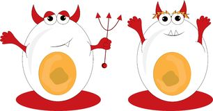 Egg Devils Stock Photography